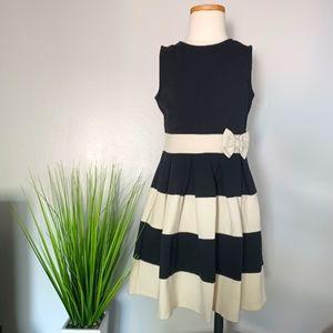 Crazy8 Striped Ponte Dress